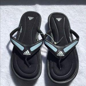Black Memory Foam Flip Flops Adidas